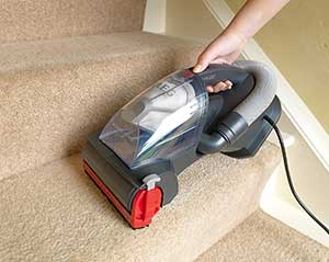 Handheld Vacuum Cleaning Stairs
