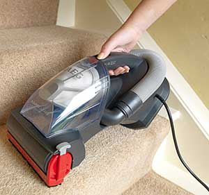 AEG Corded Handheld Vacuum Cleaning Stairs