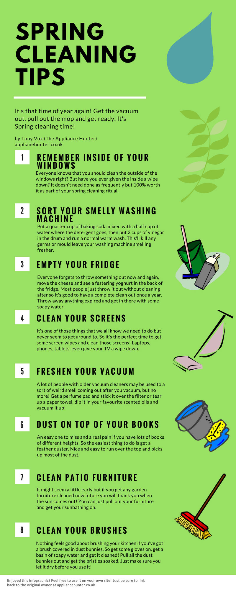 Get your house sparkling with a super spring clean with Cleaning tips for the home uk