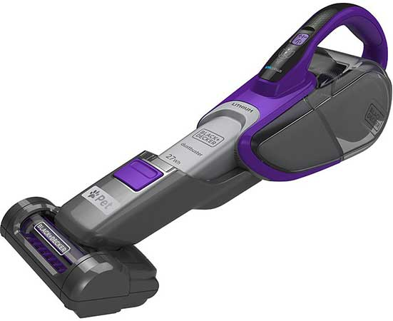 Purple Black + Decker Small Vacuum