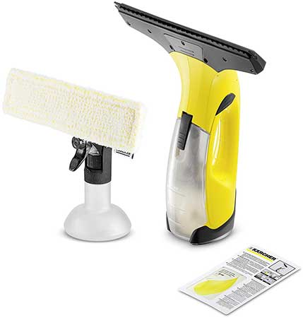 Karcher Window Vac WV2 Plus With Cloth and spray bottle