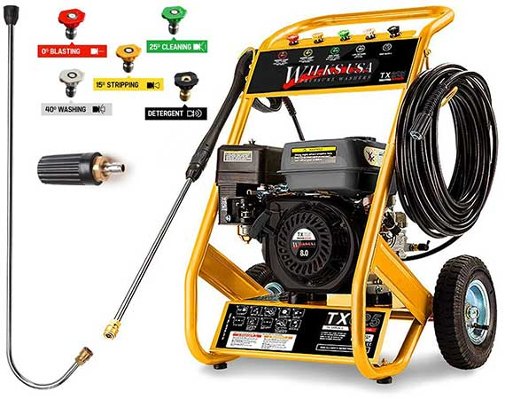 Wilks Genuine TX625 Petrol Pressure Washer