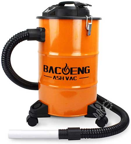 BACOENG Ash Vacuum Cleaner with Double Stage Filtration System
