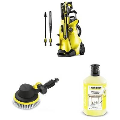 Karcher K4 Full Control Pressure Washer with Rotating Wash Brush and Universal Detergent