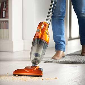Orange Lightweight Vacuum cleaning crumbs