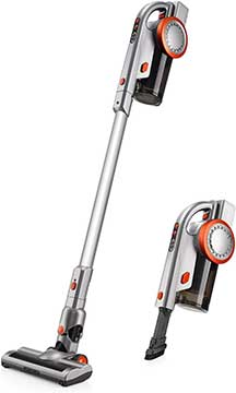 PUPPYOO Powerful Portable Rechargeable 2 in 1 Cordless Stick Vacuum Cleaner