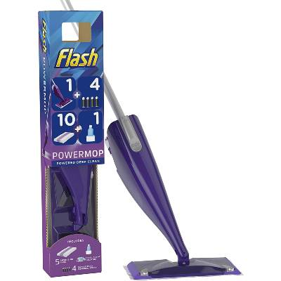 FLASH Powermop Starter Kit All-In-One Dual Spray Mop