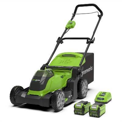 Greenworks Tools G40LM41K2X Cordless Lawnmower