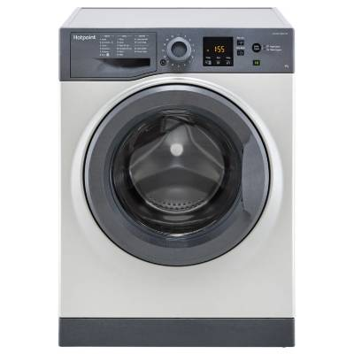 Hotpoint NSWM843CGGUK 8Kg Washing Machine with 1400 rpm - Graphite