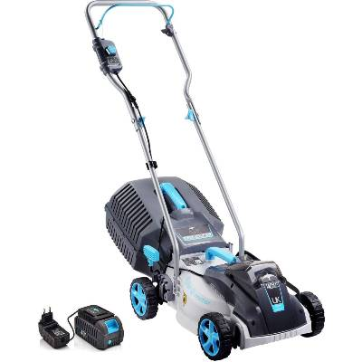 SWIFT 40V EB132CP2 Cordless Lawn Mower Digital Compact Cutting Width 32 cm with Battery and Charger