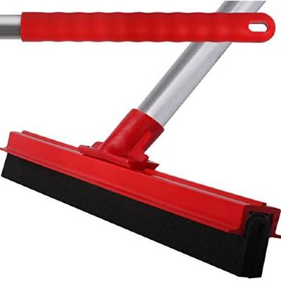 The Chemical Hut Red Professional Hard Floor Cleaning Squeegee & Strong Alloy Handle For Tiles