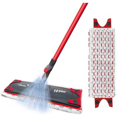 Vileda 1-2 Spray Microfibre Flat Spray Mop with Extra Microfibre Refill Pad