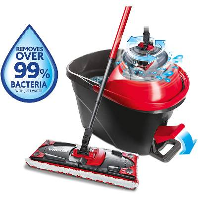 Vileda Ultramat Turbo Flat Mop and Bucket Set