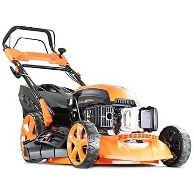 P1 Powered by Hyundai Petrol Lawnmowers Self Propelled Push Button Electric Start 21 Inch 51 Centimetre Cutting Width