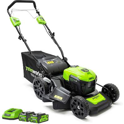 Greenworks Tools Battery-Powered Lawnmower GD40LM46SPK2x