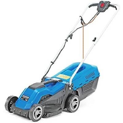 Hyundai Electric Rear Roller Mulching Rotary Lawnmower 1200W 33cm Cut 30L Bag 10M Cable HYM3300E