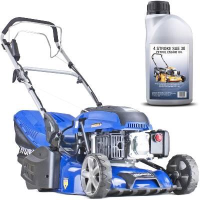 "Hyundai HYM430SPER Self Propelled 17"" 43cm 430mm 139cc Electric Start Petrol Roller Lawn Mower-Includes 600ml Engine Oil"