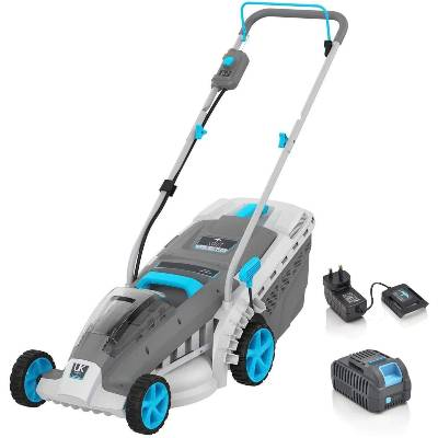 SWIFT 40V EB137CD2 Cordless Lawnmower Digital Wide Battery Lawn Mower Cutting Width 37cm (include Samsung Battery and Charger)