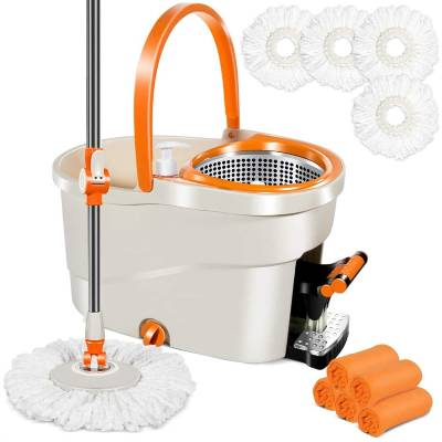 Spin Mop with Foot Pedal Bucket