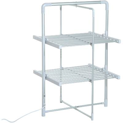 HOMCOM Electric Cloth Airer 2 Tier Heater Quick Dry Standing Warmer