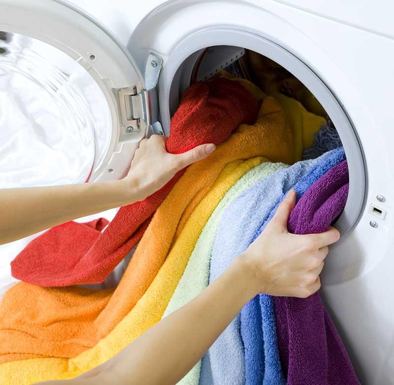 a properly loaded washing machine