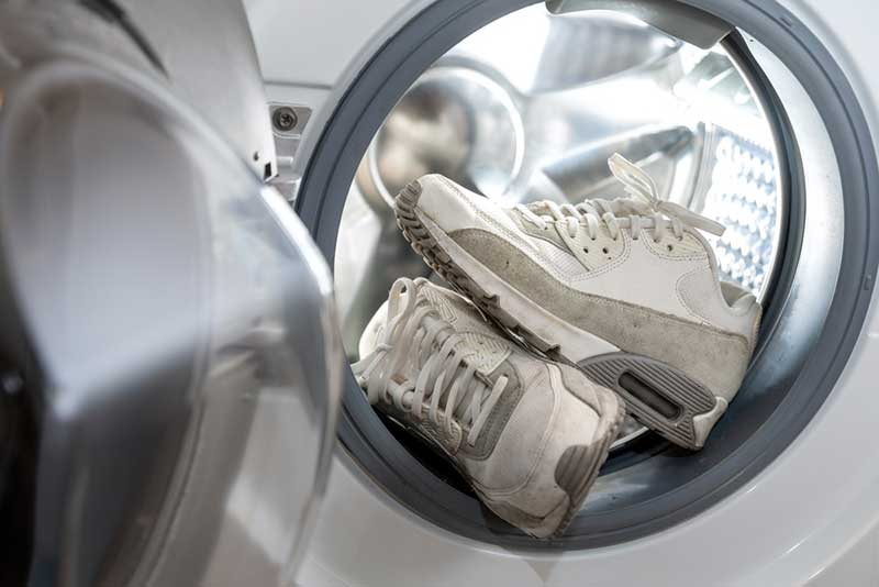 shoes in a washing machine